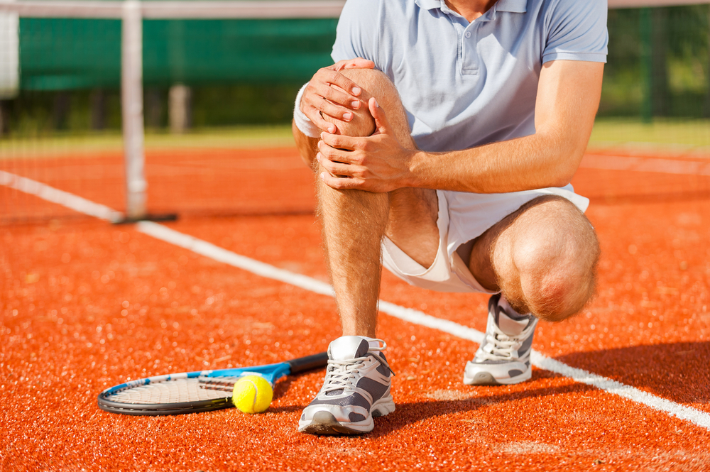 sports injuries tennis player